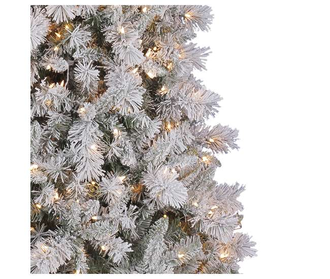 Hallmark 7 5 Foot Northern Estate White Flocked Pre Lit