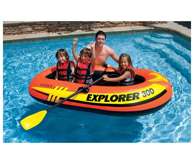 Intex explorer 200 inflatable two person raft boat 58332ep
