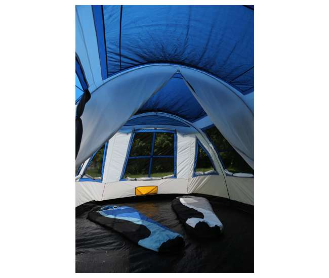 TGT-PRESCOTT-12-B Tahoe Gear Prescott 12 Person Instant Family Camping Cabin Tent, Blue(For Parts)