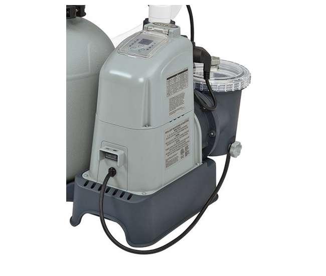 Intex 1600 Gph Saltwater System Sand Filter Pump Swimming Pool Set 28675eg