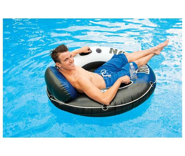 58821EP + 6 x 58825EP Intex Cooler Float & Lake Ocean Floating Tube Raft (6 Pack)