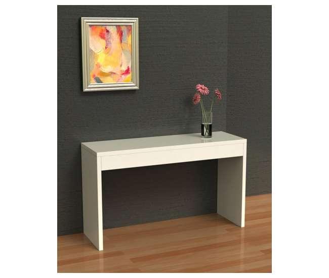 R4-0116Northfield Modern Espresso Wood Console Hallway Table - White | 111091W