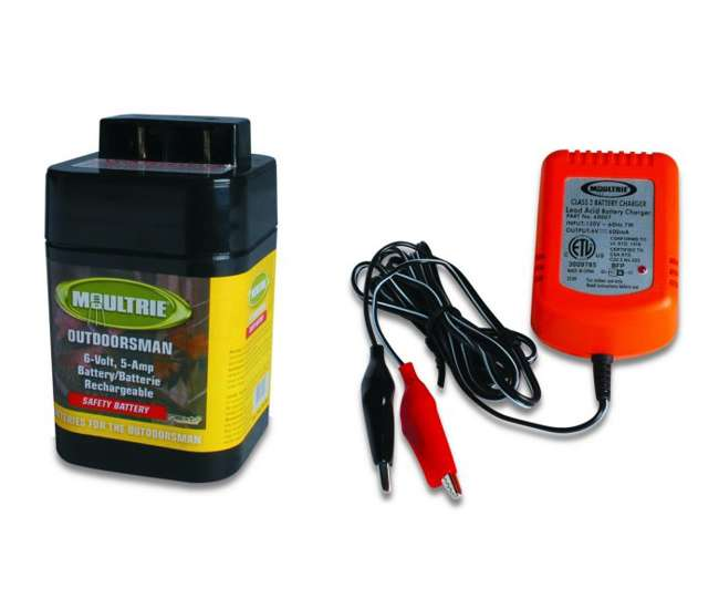moultrie 6 volt battery rechargeable safety feeder
