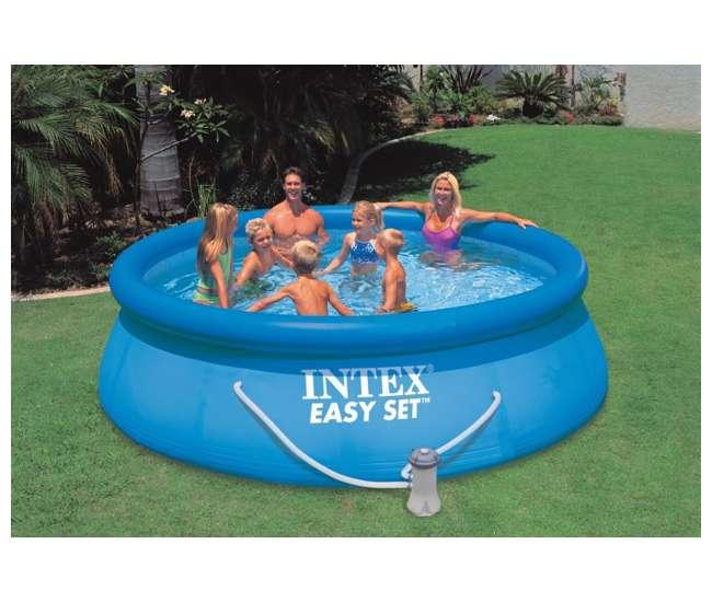 intex 12 39 x 36 easy set swimming pool set w filter pump. Black Bedroom Furniture Sets. Home Design Ideas