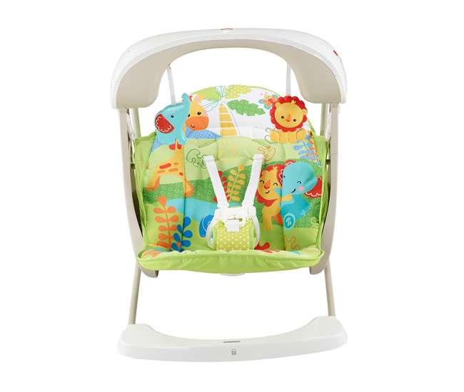 CKK59-U-A Fisher Price Infant 2-in-1 Rainforest Friends Take-Along Swing & Seat | CKK59