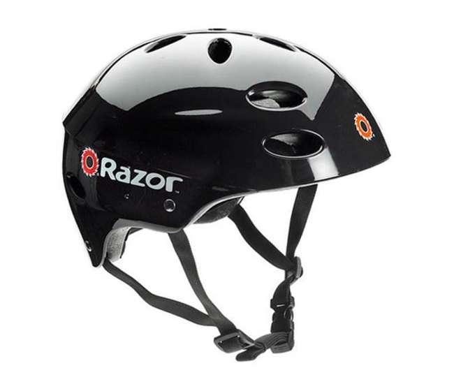 13125E-BK + 97778 Razor E125 Motorized 24-Volt Electric Scooter, Black + Razor Youth Helmet, Black