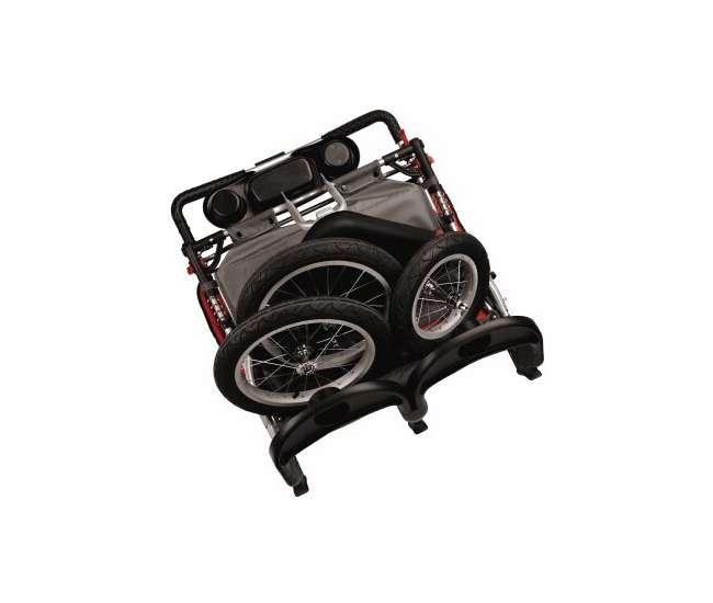 13-SC213Schwinn Turismo Double Jogging Swivel Stroller   SC213