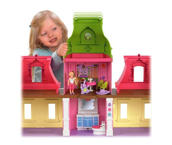X7583 Fisher Price Loving Family Dream Mega Set Dollhouse w/ Dolls & Furniture