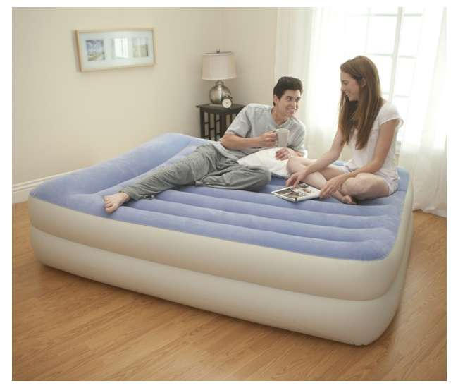 67713EINTEX Queen Pillow Rest Airbed with Built-in Pump | 67713E