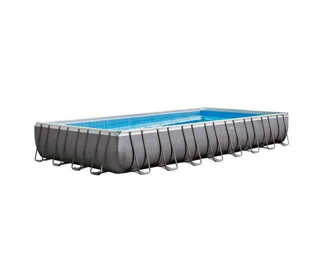 26371EH + 2 x 58821EP + 4 x 58868EP Intex 32' Rectangular Swimming Pool, Beverage Float (2 Pack), & Float (4 Pack)