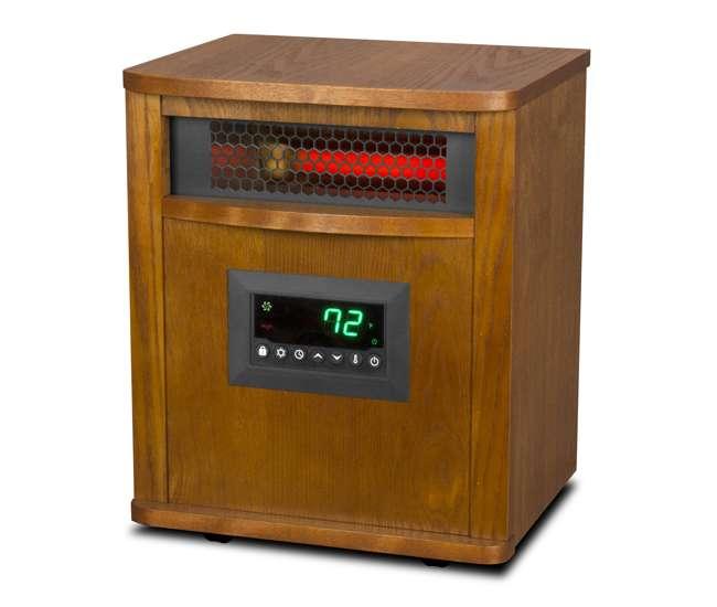 LS-ZCHT1097US Lifesmart 6 Element Quartz Electric Space Heater w/ 3 Heat Settings