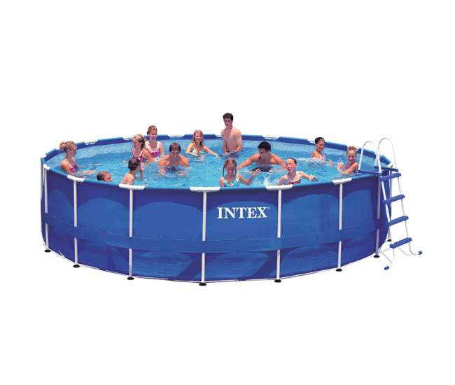 Intex 18 39 x 48 metal frame swimming pool set with 1500 for Intex pool handler