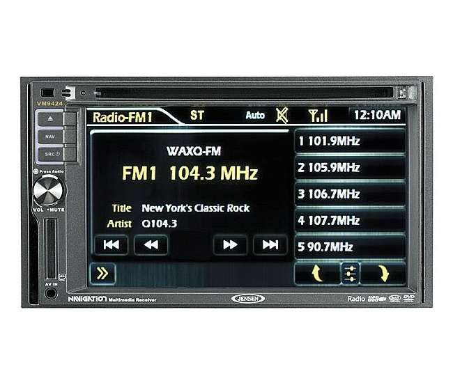 VM9424 Jensen VM9424 CD/MP3/DVD/iPod Player w/ Navigation