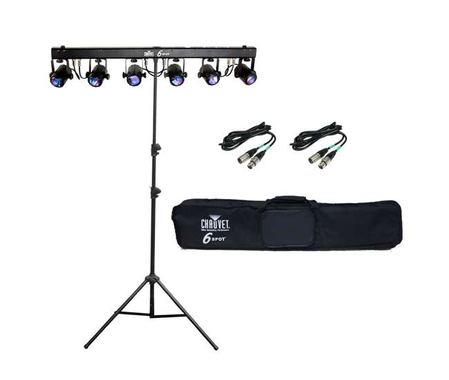 chauvet 6 spot led light bar system w ch 06 stand cables 6 spot 2 x dmx3p25ft ch 06. Black Bedroom Furniture Sets. Home Design Ideas