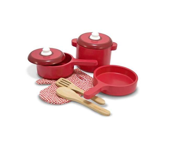 2610Melissa & Doug Kids Play Kitchen Accessory Pot & Pans Set | 2610
