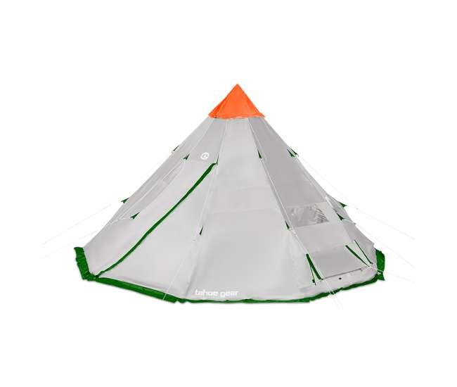 TGT-BIGHORNXL-12-B Tahoe Gear Bighorn XL 18 x 18 Feet 12 Person Teepee Cone Shape Camping Tent