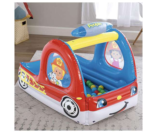 93531E-BW-U-A Fisher-Price Toddler Kids Truck Ball Pit with 25 Play Balls (Open Box)