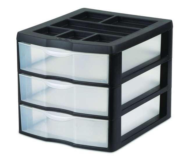 20439002 Sterilite Medium 3 Drawer Desktop Storage Unit (Pair) | 20439002