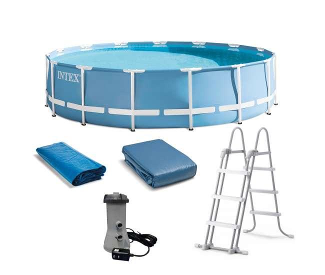 Intex 15 feet x 48 inches prism frame pool set 28735eh for Frame pool obi