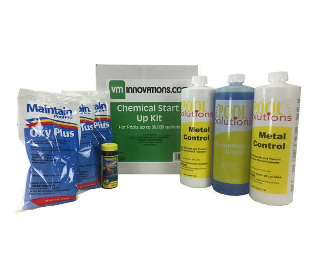 Swimming Pool Spring Start Up Chemical Opening Kit Pools Up To 30 000 Gallons 30k 7 28 1250