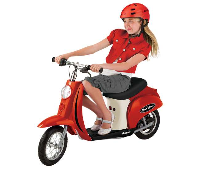 15130656 + 97778 + 96785 Razor Pocket Mod (Red) with Helmet, Elbow and Knee Pads