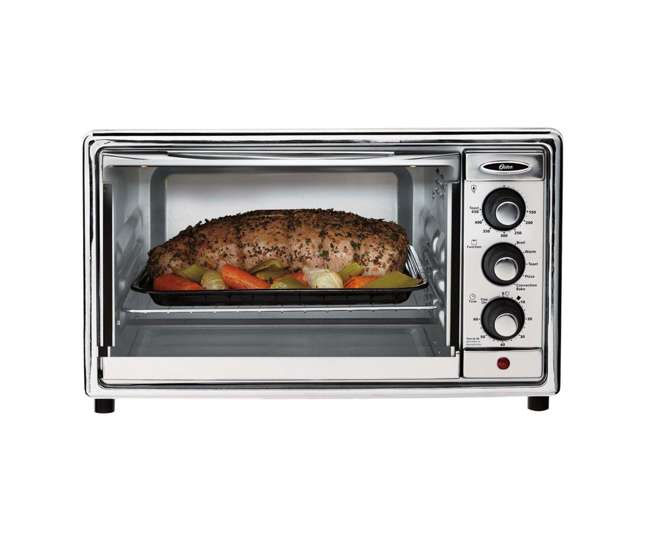 Oster 6 slice brushed stainless steel convection toaster for Oster toaster oven