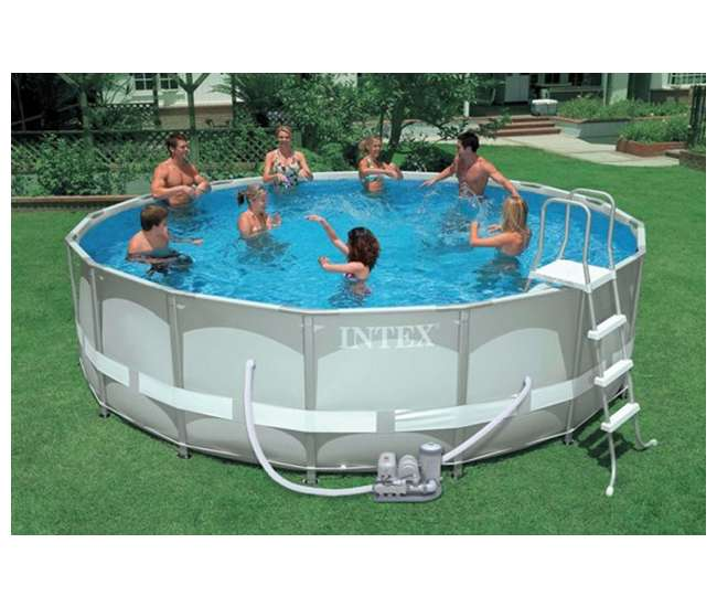Intex 16 39 X 48 Ultra Frame Swimming Pool Set Saltwater System 28325eg