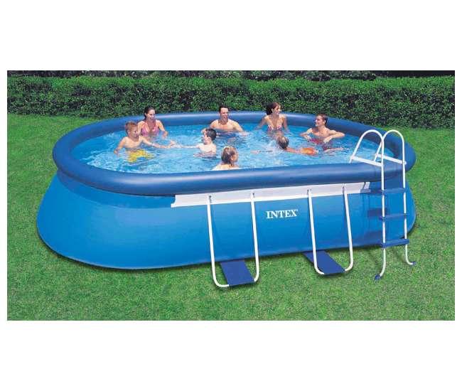 Intex 18 39 x 10 39 x 42 oval frame swimming set 28191eh - Intex oval frame pool ...