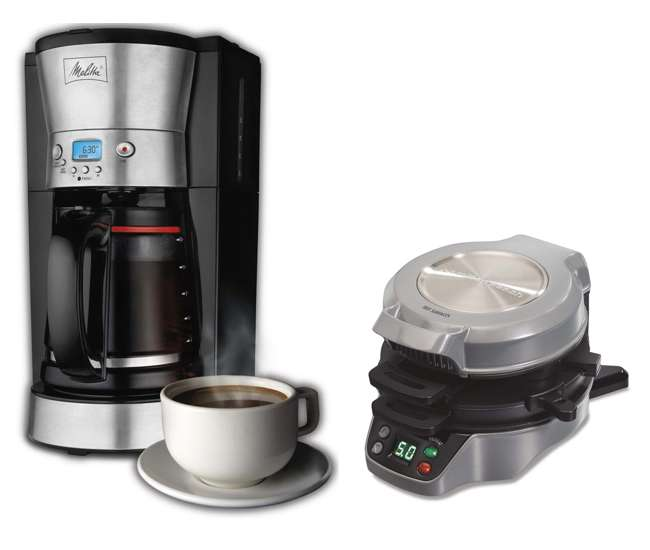 melitta 12 cup coffee maker with breakfast burrito maker bundle 46893 25495 46893a 25495. Black Bedroom Furniture Sets. Home Design Ideas