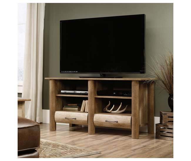 sauder boone mountain oak living room set tv stand coffee table : room set tv stand