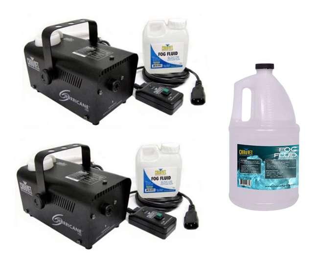 H700 + FJU Chauvet H 700 Hurricane Fog/Smoke Pro Machines H-700 (2) + 1 Gallon FJU Fog Fluid