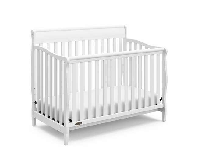 06711-300 + 04530-661 Graco Crib d Mattress & Graco Stanton 4-in-1 Convertible Crib