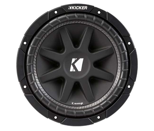 43C124 + GMC12-2007-4DR + AC15001M + AKS8 Kicker 12-Inch 600W Subwoofers (2) + GMC Dual Sub Box + 1500W Amplifier + Wiring Kit