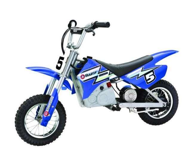 15128040 + 97775 Razor Dirt Rocket MX350 Electric Moto Bike & Full Face Youth Helmet