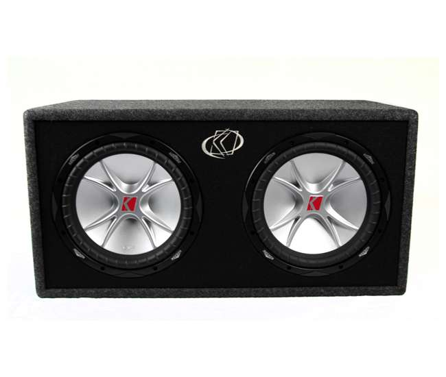 07DCVR122Kicker DCVR12 COMP 1600W 12-Inch Subwoofers with Sub Box (Pair)