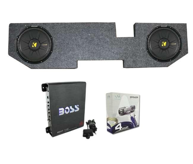 2 kicker 12 inch 600w subwoofers with dodge ram quad cab. Black Bedroom Furniture Sets. Home Design Ideas