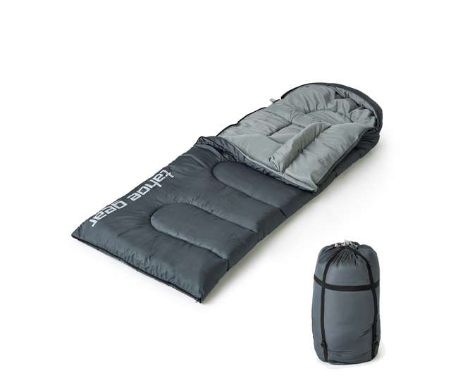 TGT-SLEEPBAG-20 Tahoe Gear 20 Degree Rectangular Lightweight Camping Excursion Sleeping Bag