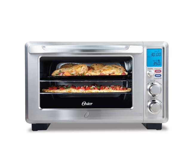 Oster Countertop Convection Oven Reviews : TSSTTVDFL1 Oster Convection 6-Slice Digital Toaster Oven, Stainless ...