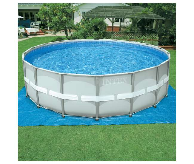 Intex 18 x 4 3 foot ultra frame swimming pool set with for Intex pool handler