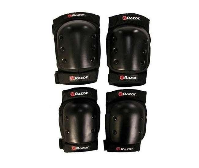 15130659 + 97913 + 96785 Razor Pocket Mod Mini Electric Scooter Bundle with Rainbow Helmet & Safety Pads