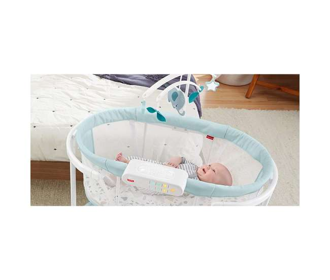 GKH52 Fisher Price GKH52 Soothing Motions Baby Bassinet with Music, Pacific Pebble