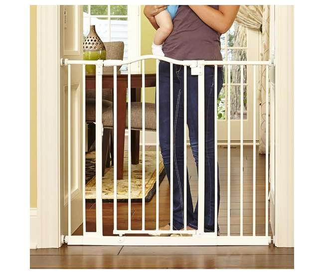 4978 North States Portico Arch Tall & Wide Baby Safety Gate, Linen