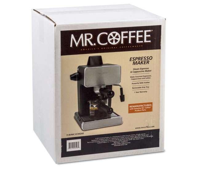 Mr. Coffee BVMC-ECM260 Steam Espresso Machine, Stainless Steel and Black (Refurbished) : BVMC ...