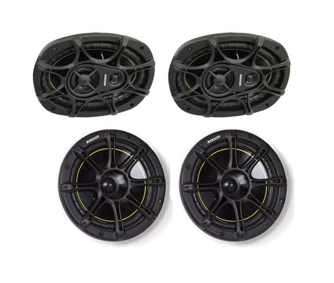 "11DS693 + 11DS65KICKER DS693 6x9"" 280W 3-Way Car Speakers (Pair) + DS65 6.5"" 2-Way Speakers (Pair)"