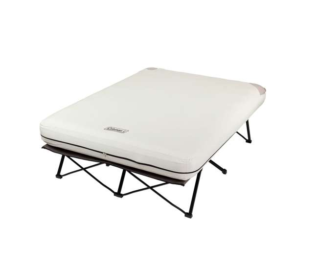 Coleman Queen Frame Airbed Cot With Side Tables And 4d Air
