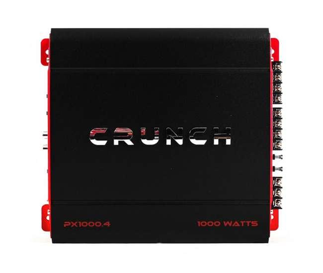 PX-1000.4 + AKS8 Crunch 4-Channel 1000-Watt A/B Amplifier (Pair) & Wiring Kit