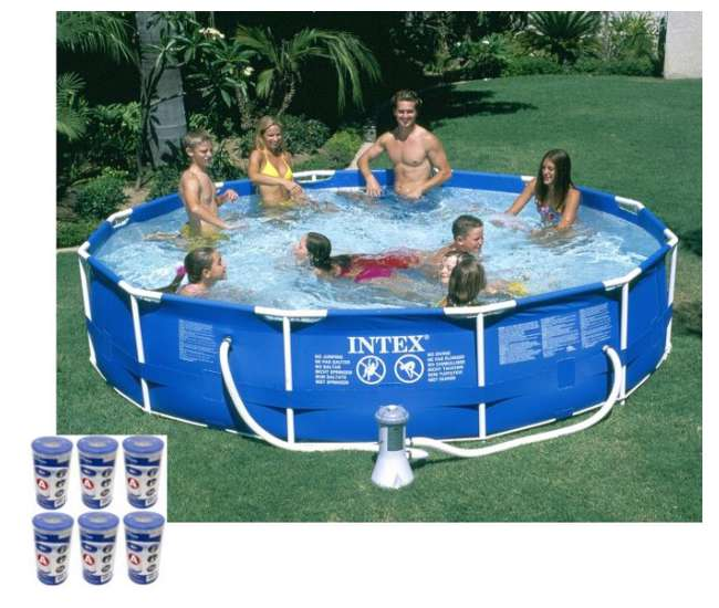 Intex 12 39 X 30 Metal Frame Set Swimming Pool W 530 Gph