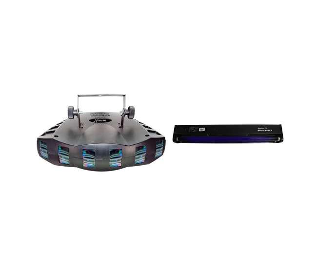 DERBY-X + BLACK-24BLB Chauvet DJ Derby X DMX-512 LED Strobe Light   DJ 24-Inch Black Light Tube And Fixture