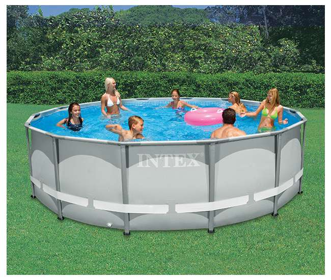 intex 14 39 x 42 ultra frame pool 28309eh. Black Bedroom Furniture Sets. Home Design Ideas