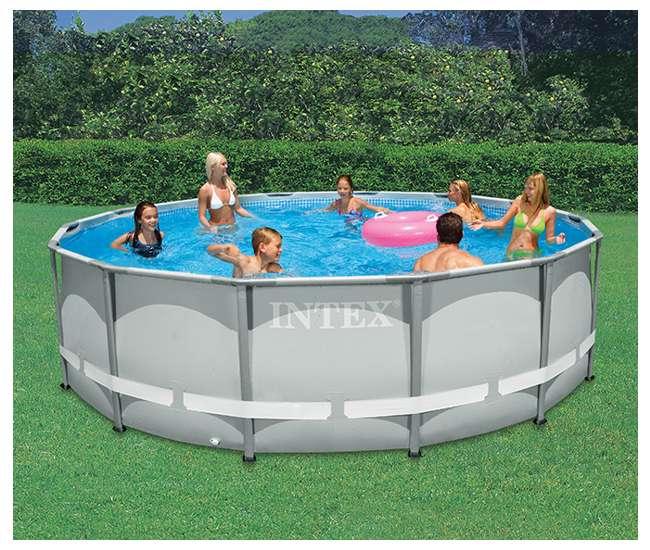 intex 14 39 x 42 ultra frame pool 28309eh. Black Bedroom Furniture Sets. Home Design Ideas